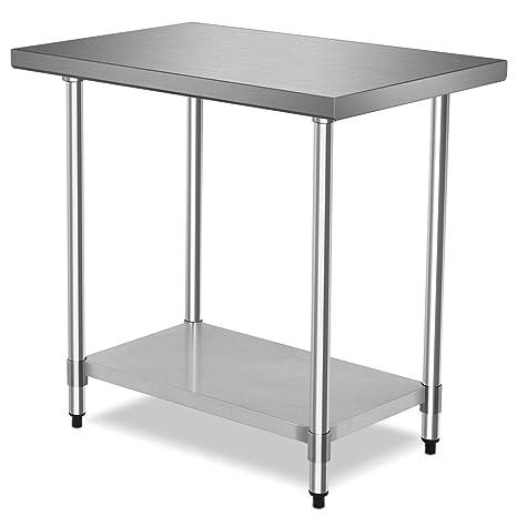 Amazon.com: LordBee - Mesa de cocina comercial de acero ...