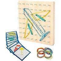 Geometry Geoboard Montessori Shape Houten Met Activity Pattern Cards Inspire Kids Imagination Educatief Speelgoed