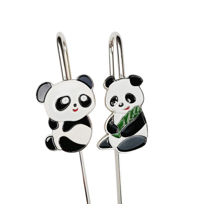 2/pcs Panda Marque-page en m/étal livre Mark