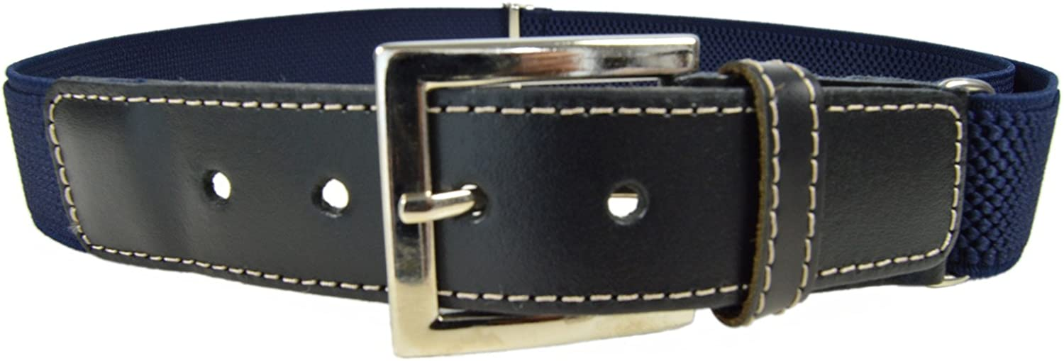 Junior//Childrens 1-15 Years Adjustable Stretch Belt with Buckle//Leather Fittings
