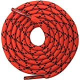 DELELE 2 Pair Round Climbing Shoelaces Red Black Hiking Shoe Laces Boot Laces 53.15 inch