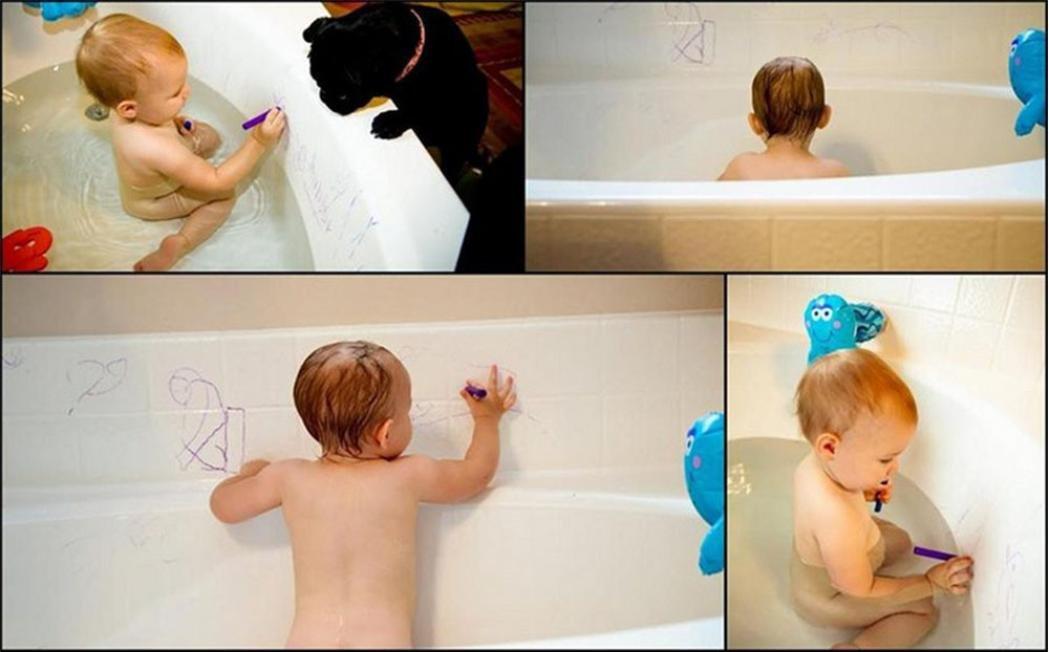 Baby per bambini Taottao 6PC lavabile Bath Crayons Bathtime Play bambino giocattoli educativi