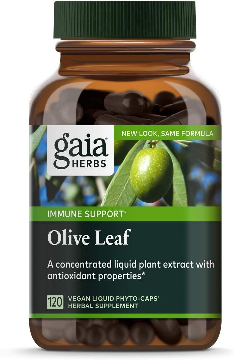 Gaia Herbs Olive Leaf, Vegan Liquid Capsules, 120 Count – Daily Immune Support and Cardiovascular Health Supplement, Antioxidant, 680mg