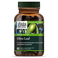Gaia Herbs Olive Leaf, Vegan Liquid Capsules, 120 Count - Daily Immune Support and...