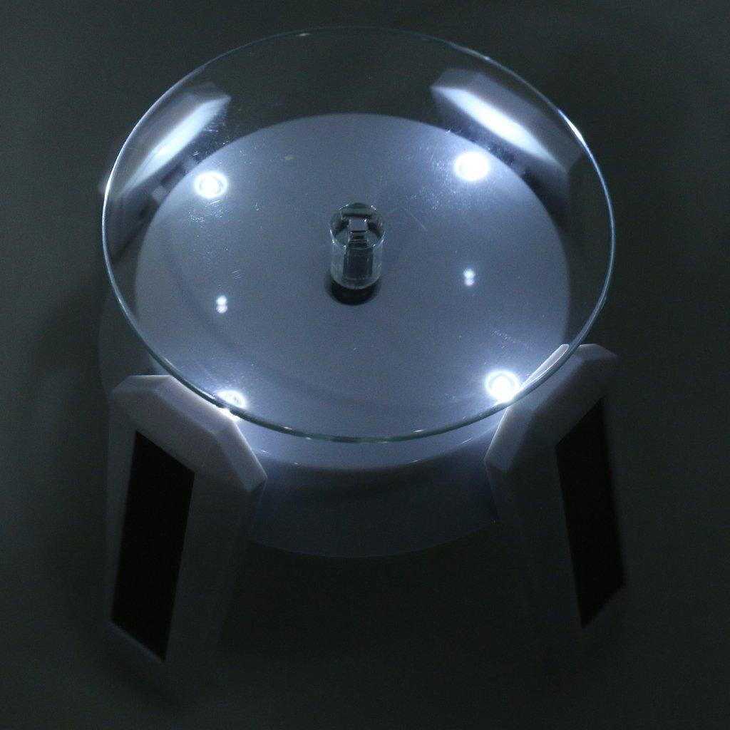 F Fityle Stand Soporte Giratorio 360 ° para tocadiscos LED y ...