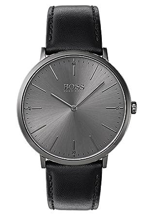 Hugo BOSS Reloj Análogo clásico para Hombre de Cuarzo con Correa en Cuero 1513540: Amazon.es: Relojes