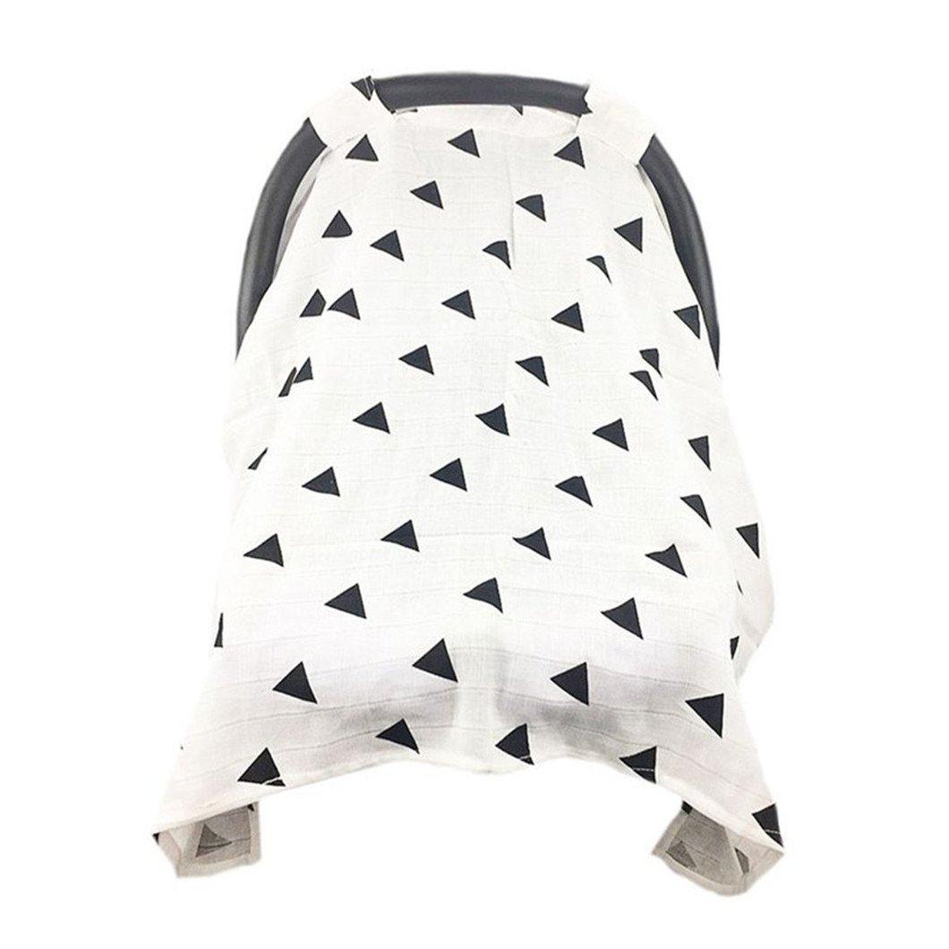 ODN Baumwolle Cover Sonnenschutz Handtuch für Baby Kinderwagen, Universell Passend (Muster 1)