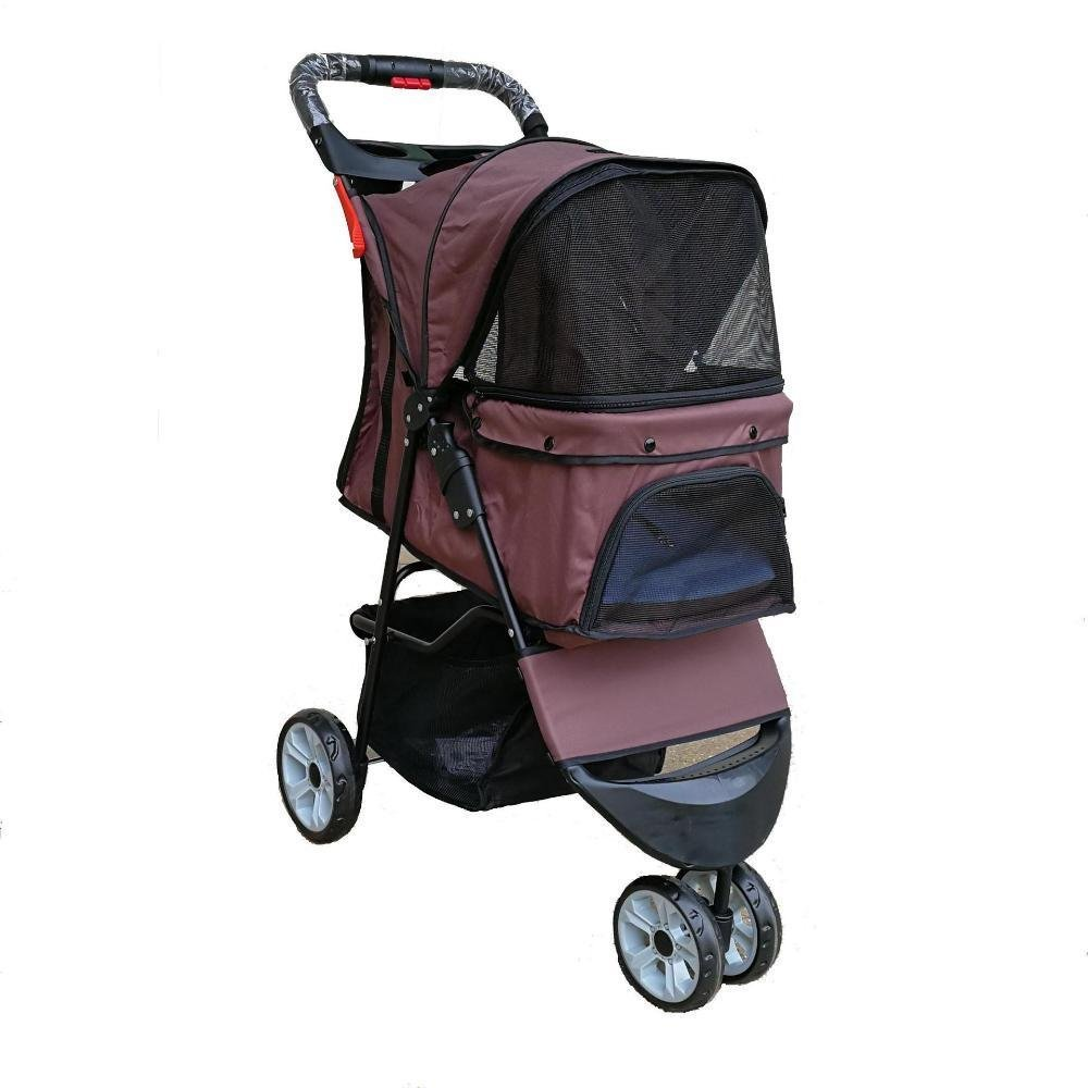 Daeou Pet StrollerDog stroller Small and medium sized pet car Portable pet cart