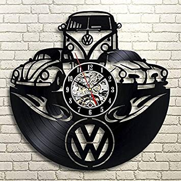 Volkswagen Vinyl Wall Clock Gift For Car Lover Xmas