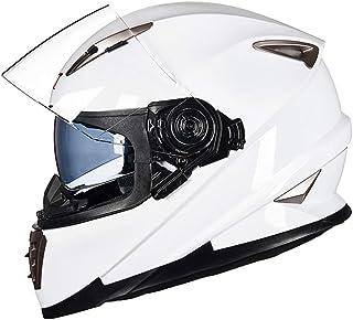 ZYear Casque de Moto avec lentille Anti-Brouillard Visage intégral Voiture de Sport Racing Casque de Locomotive pour Hommes Four Seasons Universal