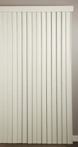 """Achim Home Furnishings Vertical Blinds, 78"""" wide 84"""" long., Ribbed Alabaster"""
