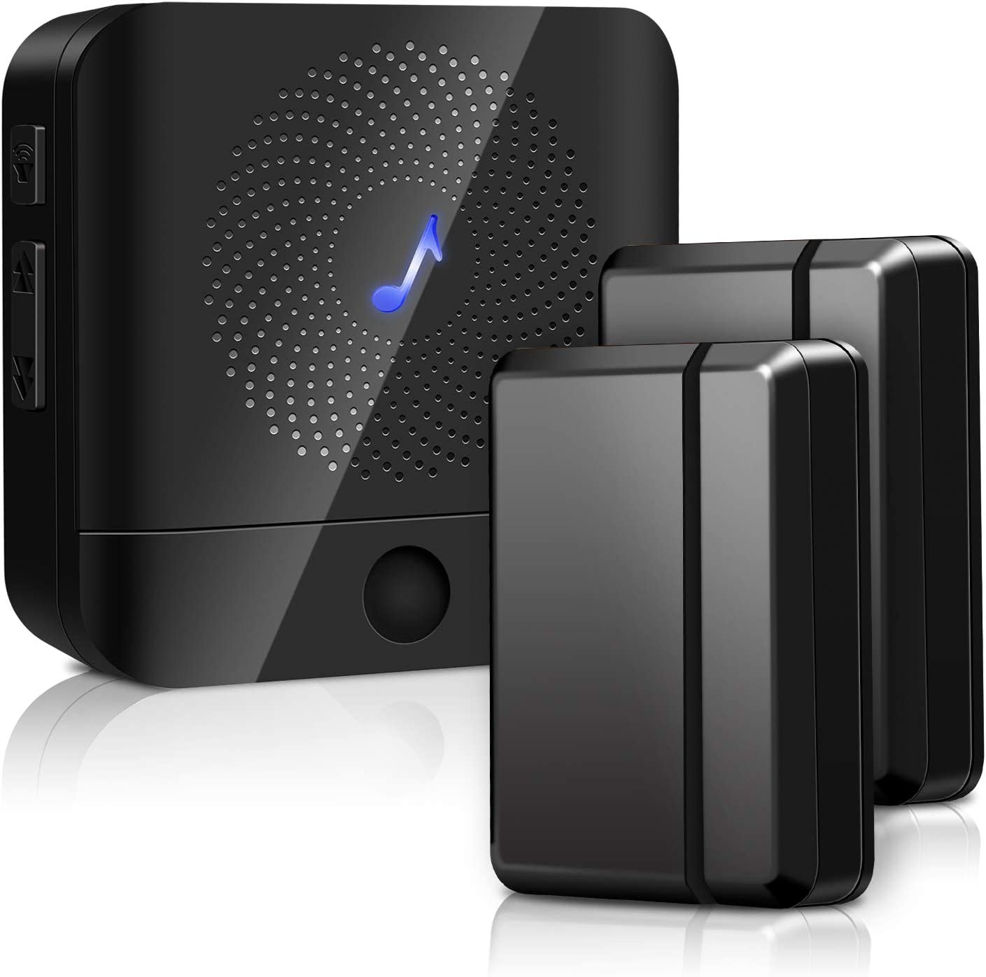 Door Chime Wireless Door Sensor - BISTEE Alarm Contact Door Open Chime Kit with 600 FT Range, 5 Volume Levels, 58 Melodies, LED Indicator for Business/Home/Office/Stores