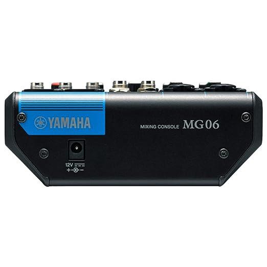 Yamaha MG06 X 6 mezclador de estéreo de entrada (con efectos de SPX) W/(2) Cables de micrófono XLR: Amazon.es: Instrumentos musicales