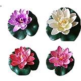 SwirlColor 5 pezzi di Romantic Floating Flower, impermeabile Fiore di loto per gli amanti e bambini, applica a Wedding Day Acquari decorazione di San Valentino