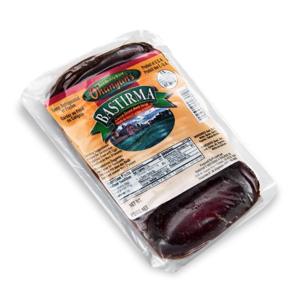 Ohanyan's Lean Cured Beef 8oz (Sliced Basterma - Pastirma)