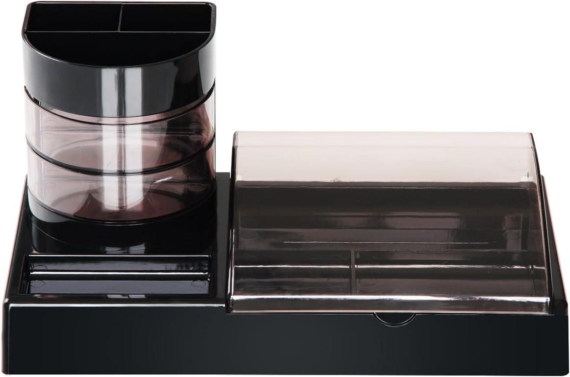 MyLifeUNITデスクペン多機能ペンホルダー、鉛筆オーガナイザーデスクトップ用、ブラック
