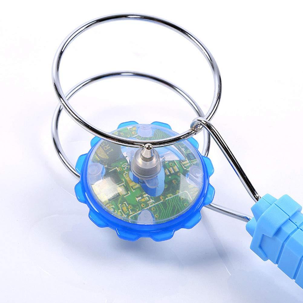Zuf/ällige Farbe YeahiBaby LED Kreisel Magnetische Spielzeug Gyro R/äder Lustige Batteriebetriebene Blinklicht Spinning Spielzeug f/ür Kinder