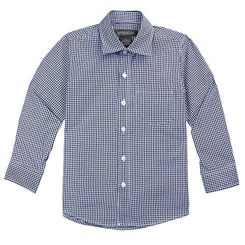 Spring Notion Baby Boys' Long Sleeve Gingham Shirt 3T Dark Navy (Gingham Dress Navy)