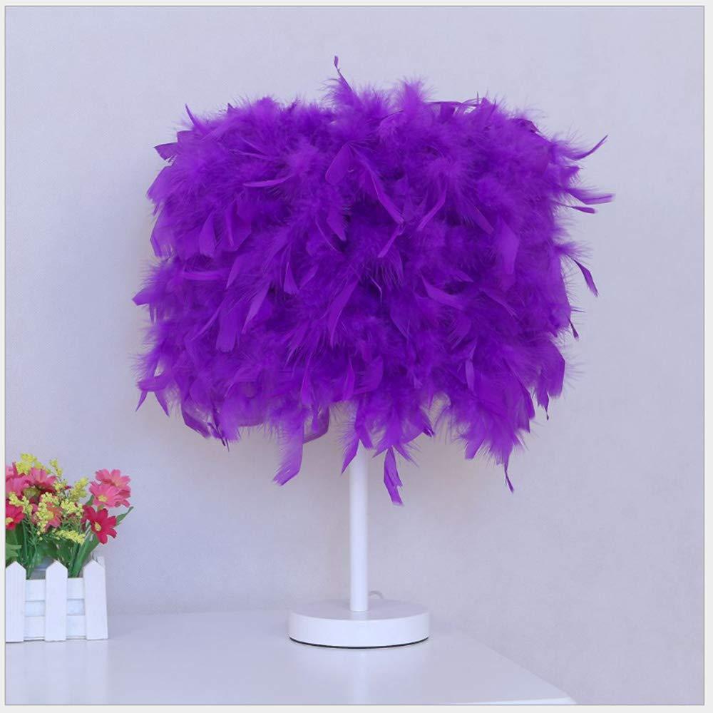 Einfache Schlafzimmer Nacht Hotel schreibtischlampe Hause Taste dimmen led lila Farbe Fernbedienung Feder