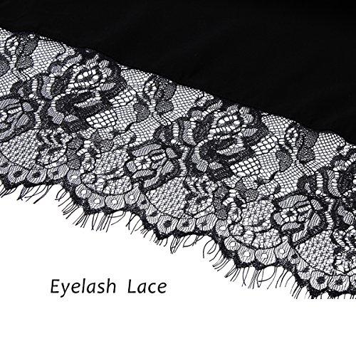 PROGULOVER PROGULOVER's Set Of 8 Cotton Wedding Kimono Robe For Bride and Bridesmaid Eyelash Edge Lace With Gold Glitter by PROGULOVER (Image #3)