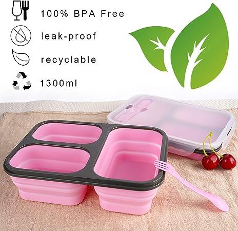 Plastic Lunchbox Bento alimentaire Boîte de Rangement Snack Container Enfants École Voyage Enfant