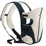 ECOSUSI Babytrage 100% Polyester Bauch und Hüfttrage (für Babys von 3,6kg bis 9.1kg) 2 Tragepositionen: Blickrichtung zum Elternteil, auf dem Rücken des Elternteils Beige