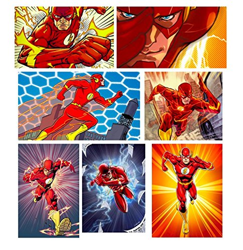 12 Flash Assortment Comic Stickers for treat goody bags wonder woman DC Super Hero flash superman Birthday Party