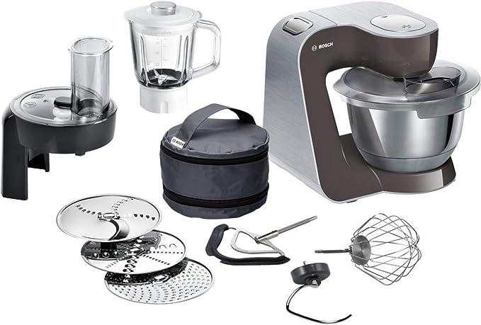 Bosch Hausgeräte CreationLine Robot de cocina, 1000 W, 76 Decibelios, plástico, 7 Velocidades, gris/plateado: Amazon.es: Hogar