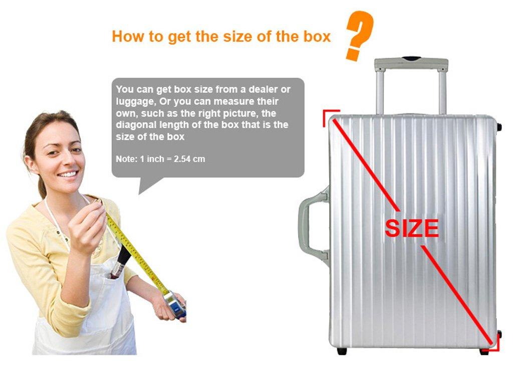 WATERFLY el/ástica equipaje maleta pantalla para funda 20/-28/Rojo Amarillo p/úrpura negro