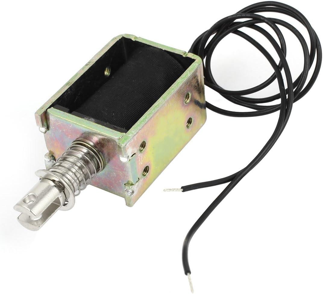 Sourcingmap - Cc 12v tipo de tracción de 10 mm 400g solenoide lineal electroimán 11.07w
