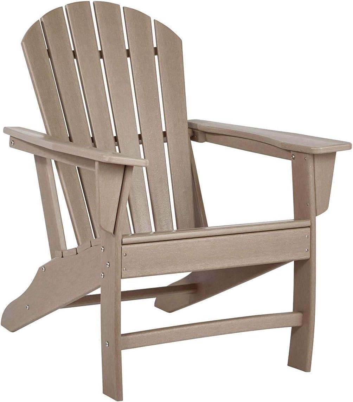 Signature Design by Ashley Sundown Treasure Outdoor .1 Pack(Grayish Brown,Adirondack Chair)