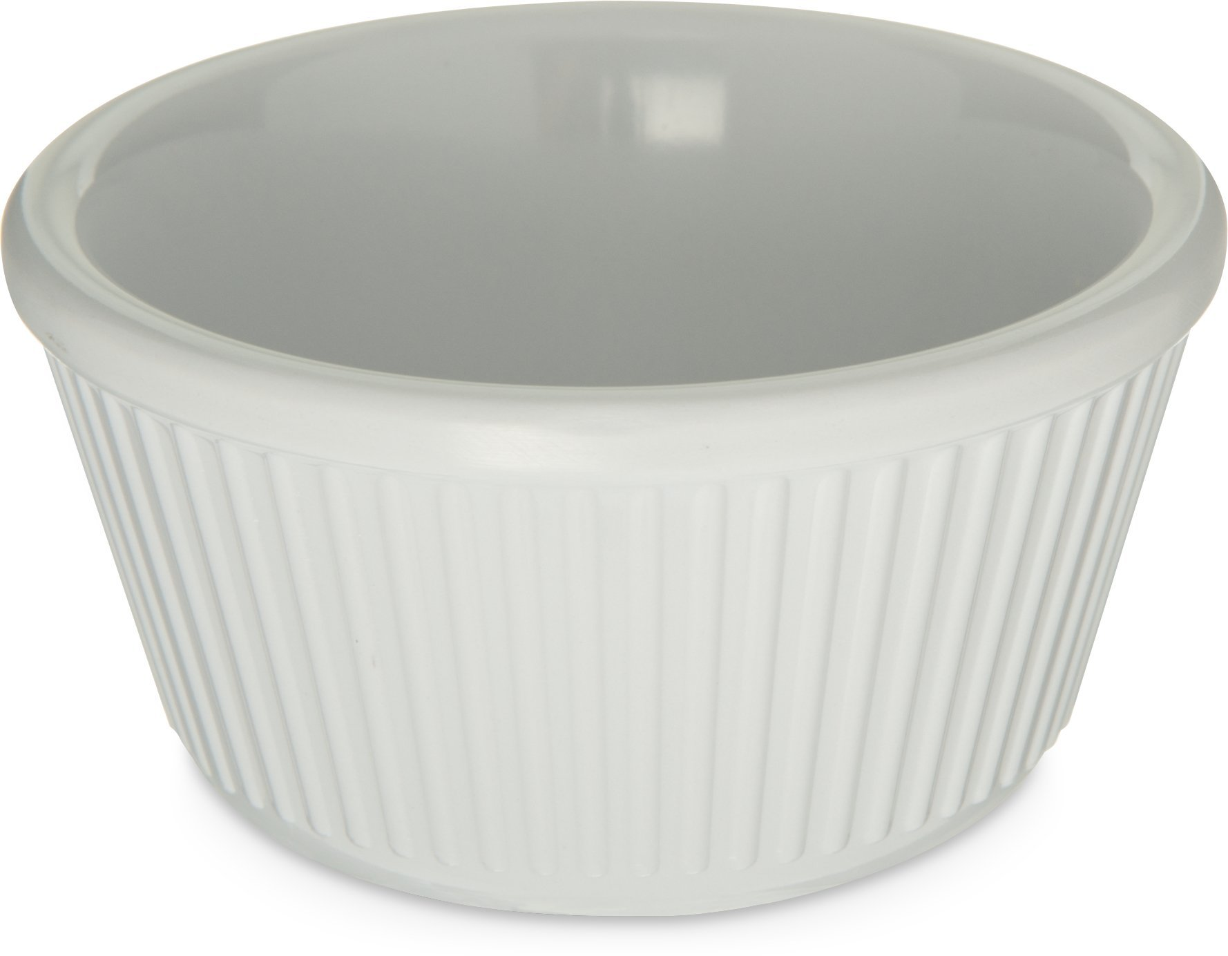 Carlisle S28702 Melamine Fluted Ramekin, 4 oz. Capacity, White (Case of 48) by Carlisle