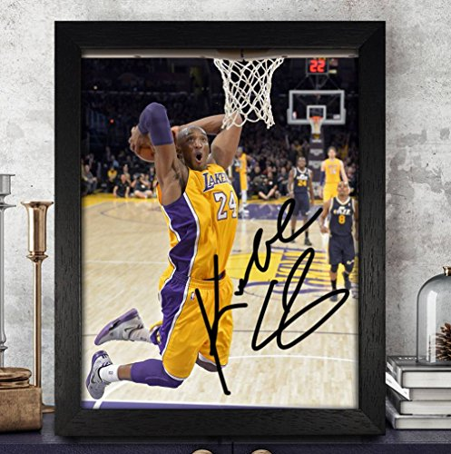 - Kobe Bryant Basketball Autographed Signed 8x10 Photo Reprint #19 Special Unique Gifts Ideas Him Her Best Friends Birthday Christmas Xmas Valentines Anniversary Fathers Mothers Day