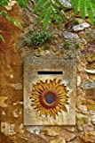 Vintage Letterbox With a Sunflower Design Journal: 150 Page Lined Notebook/Diary