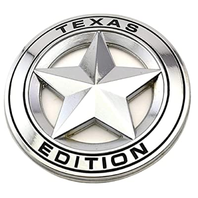 GO-UPP 3D Metal TEXAS EDITION Star Car Emblem Badge For Ford JEEP Dodge Mercedes BMW Volvo Chevrolet Nissan Mazda Audi VW Nissan Honda Toyota Lexus Lincoln SUV Car Styling Decoration Accessories: Automotive