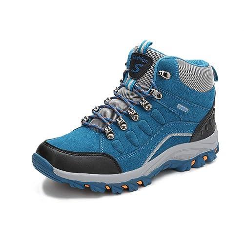 TQGOLD Zapatillas de Trekking para Hombres Mujeres Botas de Senderismo Impermeables Zapatos de montaña Aire Libre