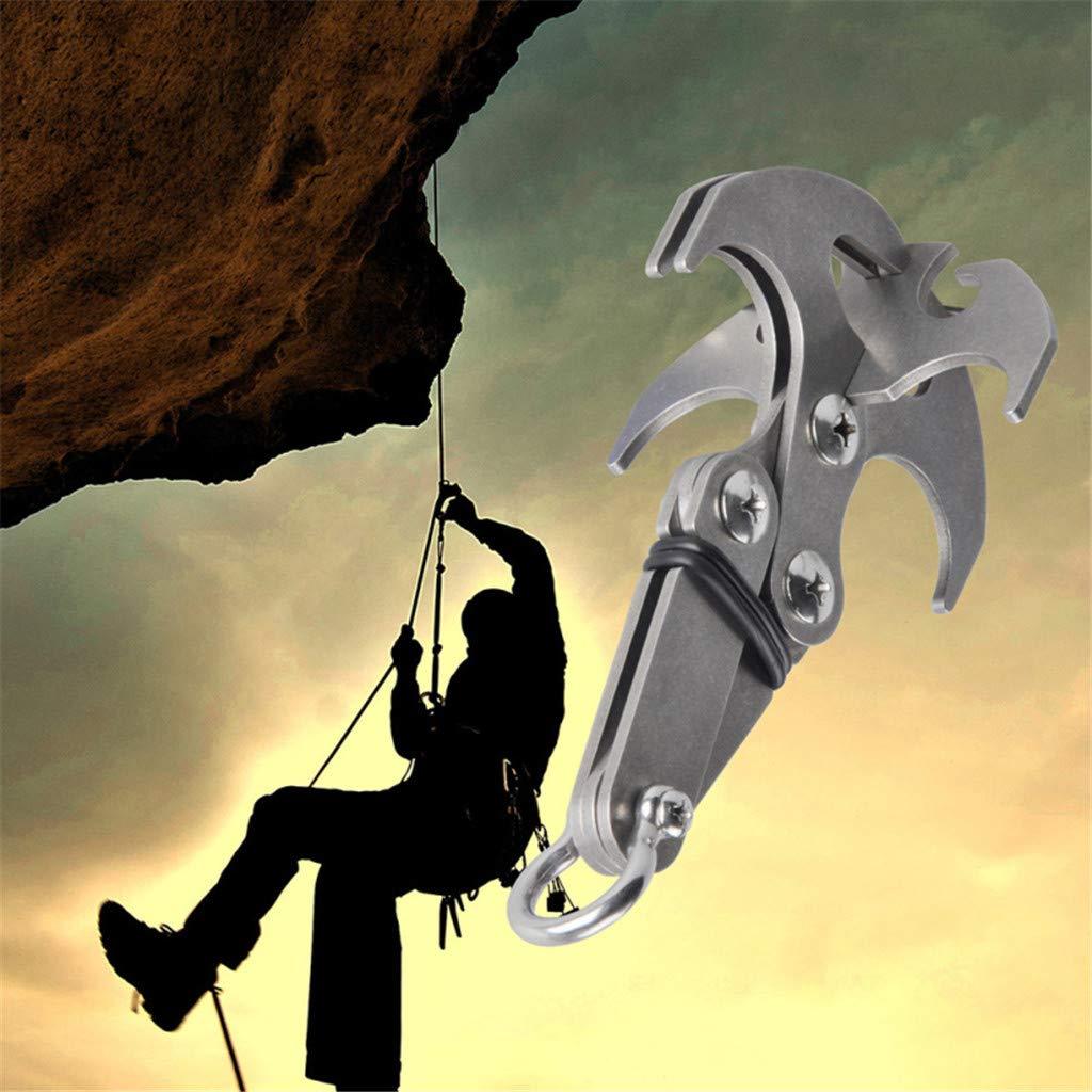 DANGSHUO Un Rampino Un Gancio Pieghevole a gravit/à Multifunzionale in Acciaio Inossidabile per Arrampicata su Roccia per la Sopravvivenza allaperto