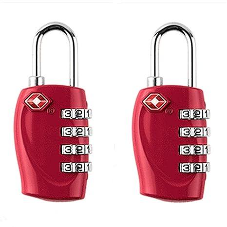2-pack, jyhyeu TSA Aprobado cerraduras de combinación de 4 dígitos – plataresistente y