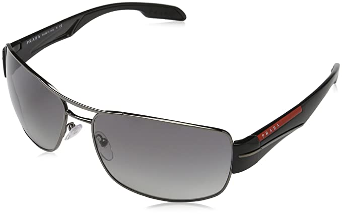 Prada Sport PS53NS 5AV3M1 Gunmetal PS53NS Square Pilot Sunglasses Lens Category, 65mm