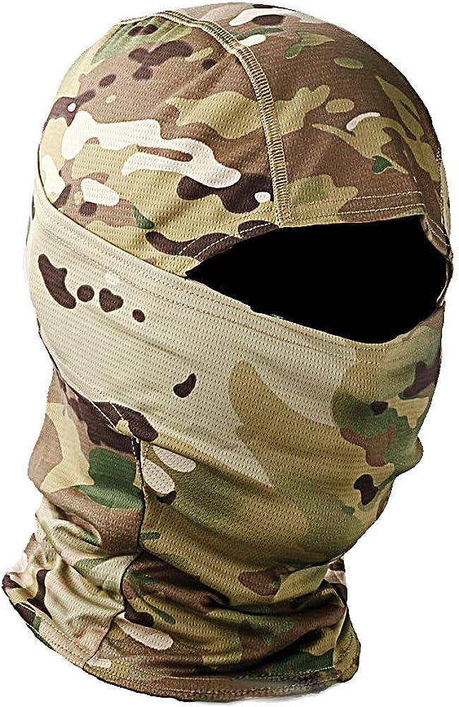 Military Camo Face Mask Bandana Balaclava Hood Headwear for Men Women Tactical Training Cycling Ski Wind-Resistant Hunting