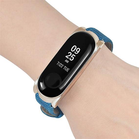 Amazon.com: HowLoo Cowboy Replacement Band Strap + Metal Case for Xiaomi Mi Band 3 Bracelet Banda de reloj inteligente (Rose Gold): Car Electronics