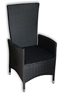 polyrattan sessel verstellbar schwarz williamflooring. Black Bedroom Furniture Sets. Home Design Ideas