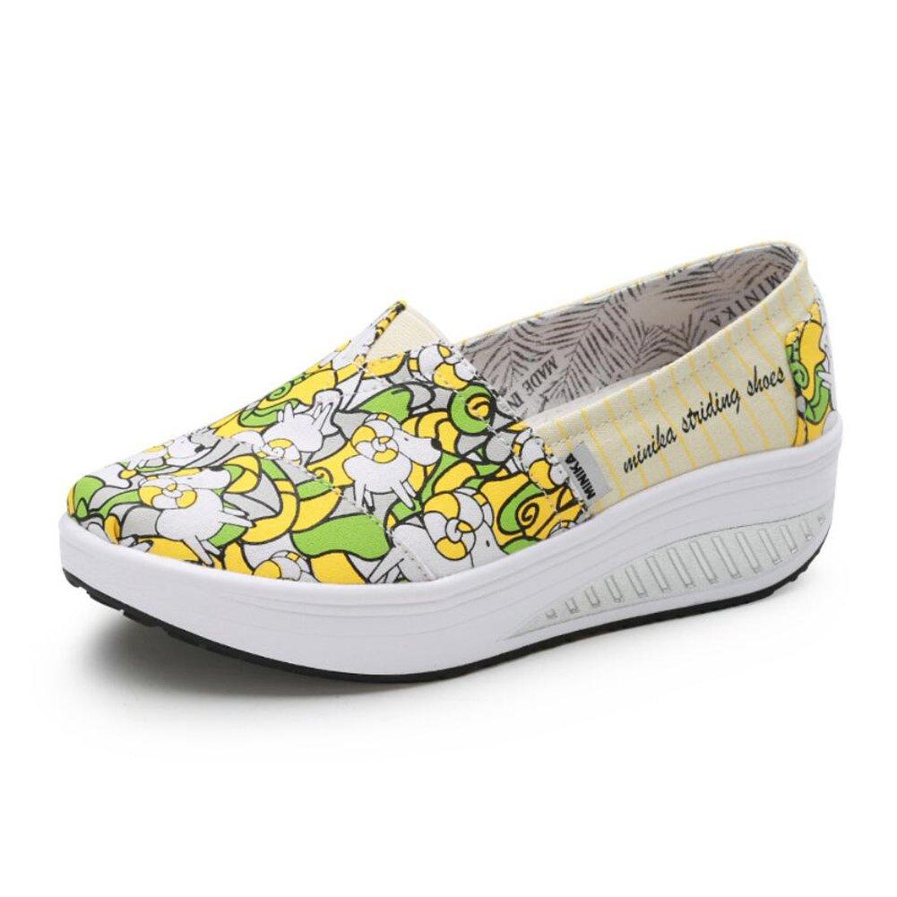 Damenschuhe Canvas Frühling Herbst Loafers Loafers Loafers & Slip-Ons Driving schuhe Fitness Shake Schuhe Shake schuhe Shaking Schuhe Flache Loafers Turnschuhe Weiche Sohle beiläufige Höhe erhöhen Schuhe Plateauschuhe  f4ea6a