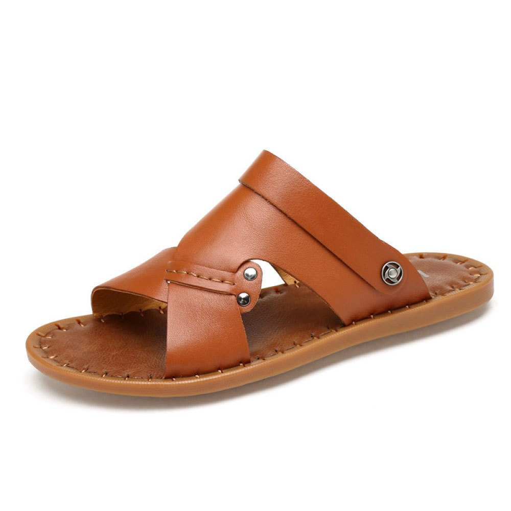 Sandalias Summer Men's Beach Zapatos Ocasionales Cosidos A Mano 40 EU|Brown