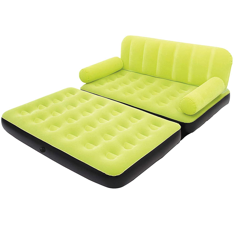 SYF Air Sofa Chair air Sofa Bed air Mattress Sleeping pad AC air Pump Green 1.88  1.52  0.64m A+