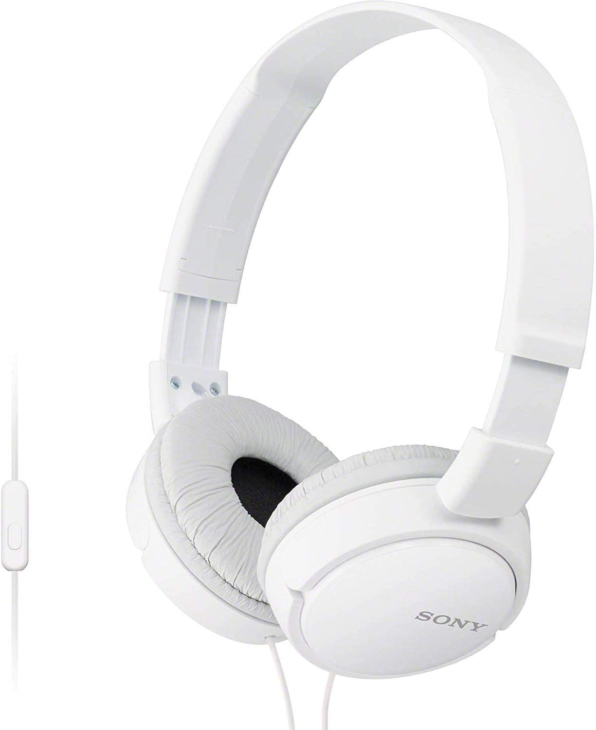 Sony Premium Lightweight Extra Bass Stereo Headphones with Universal in-line Microphone and Remote for Apple iPhone/Android Smartphone (White)