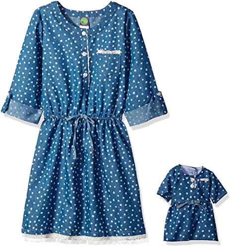 Dollie Me Girls Chambray Printed