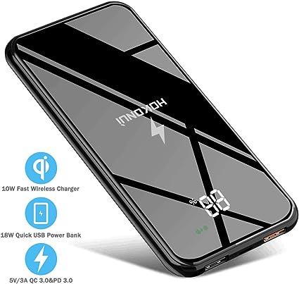 Amazon.com: Cargador portátil inalámbrico, batería externa ...