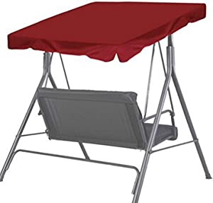 BenefitUSA Patio Outdoor Swing Canopy Replacement Porch Top Cover Seat Furniture, Burgundy