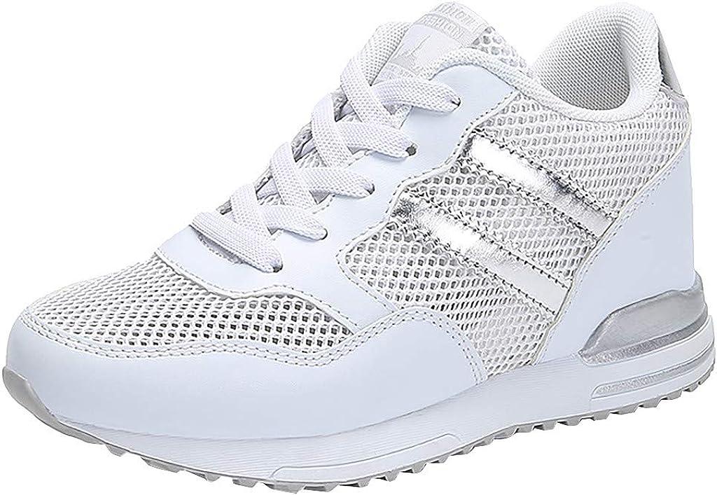 Zapatillas Deportivas De Mujer con Cu/ñA Interior Plataforma Malla Sport Zapatos Ligeras C/óModas Respirable Sneakers Running Casual 2019 con Cordones Deportivo Calzado Baohooya